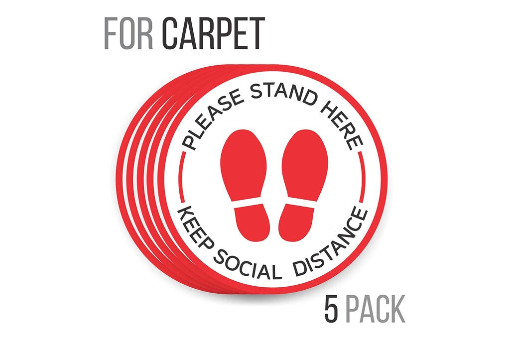 carpet, floor market, social distance