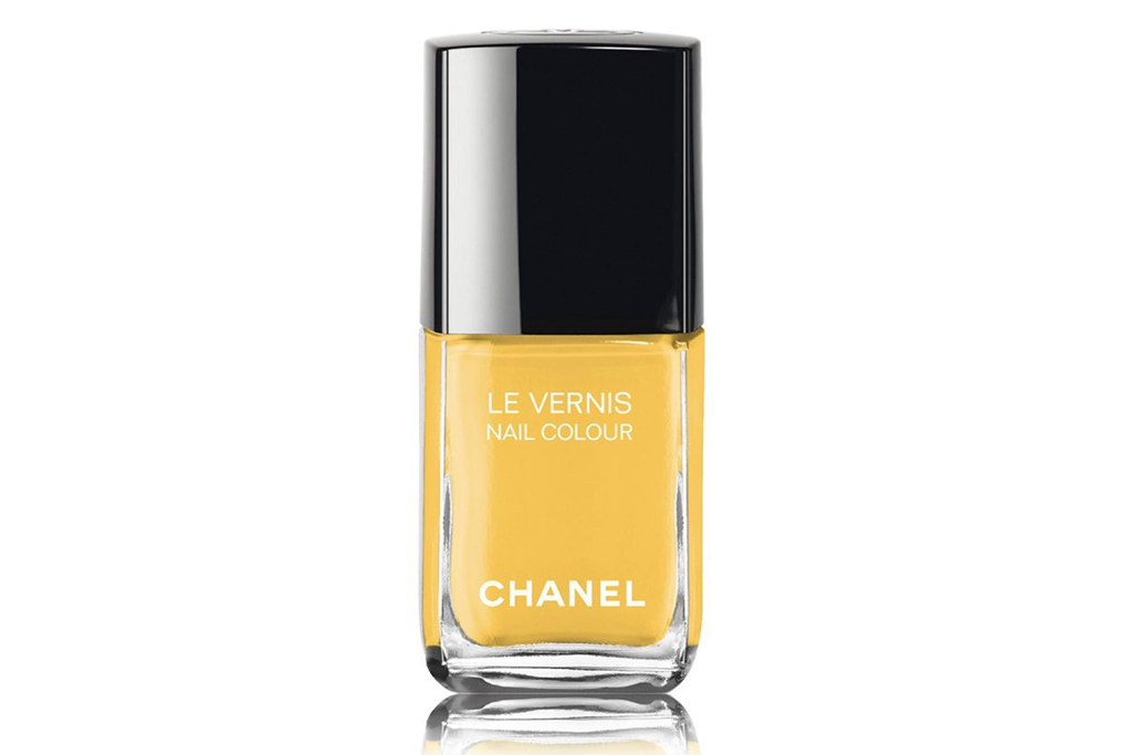 chanel, nail polish, yellow