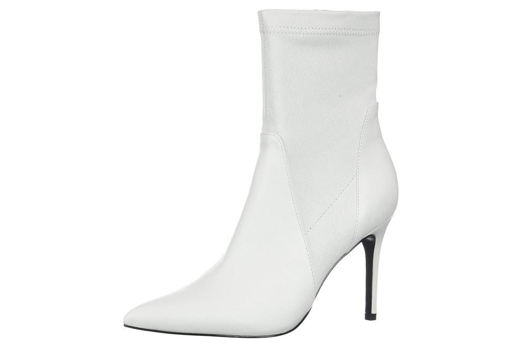 charles david, white, heel, bootie