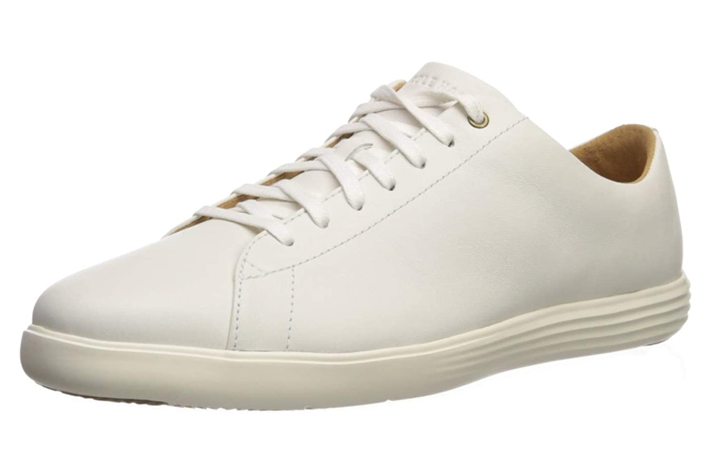 cole haan, sneakers, white, leather