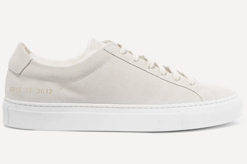 Common Projects, shearling lined sneakers