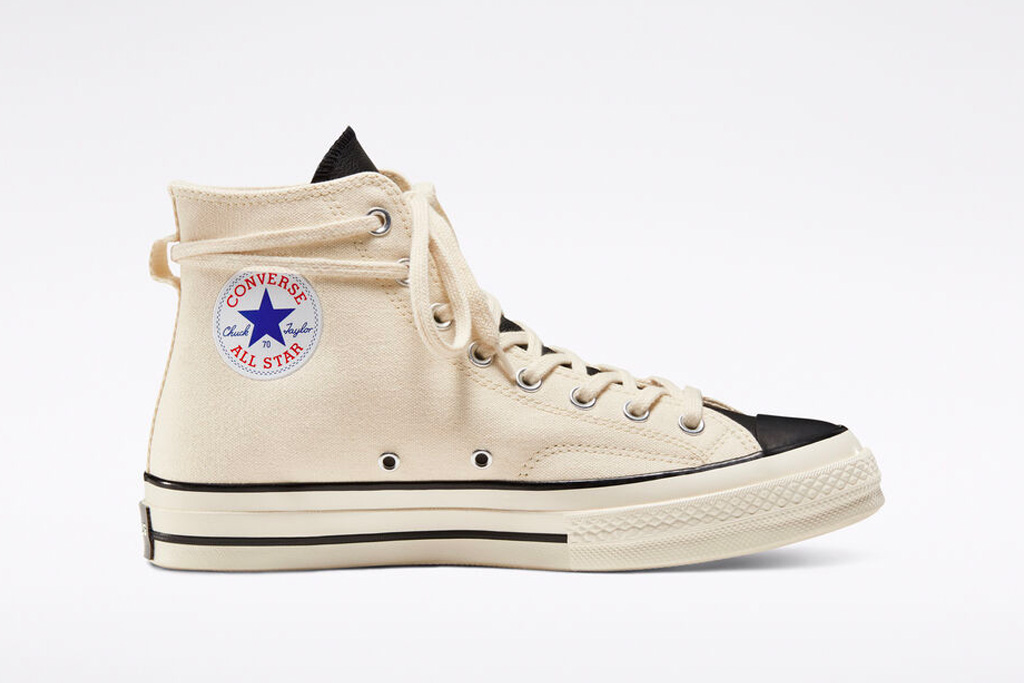converse, fear of god, sneakers, white, black