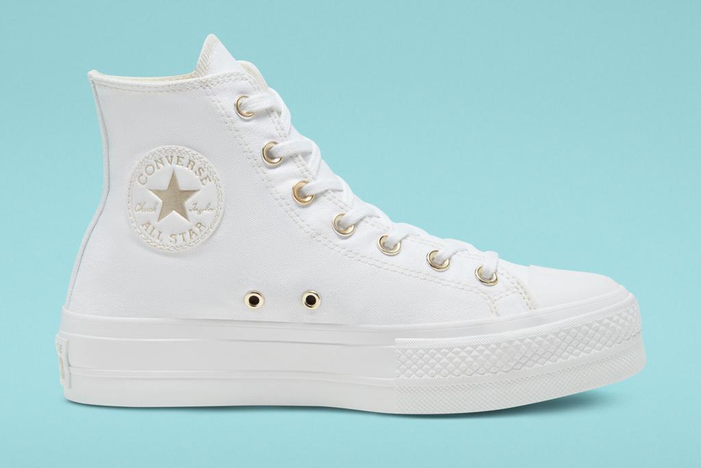 converse, white, platform, chuck taylor