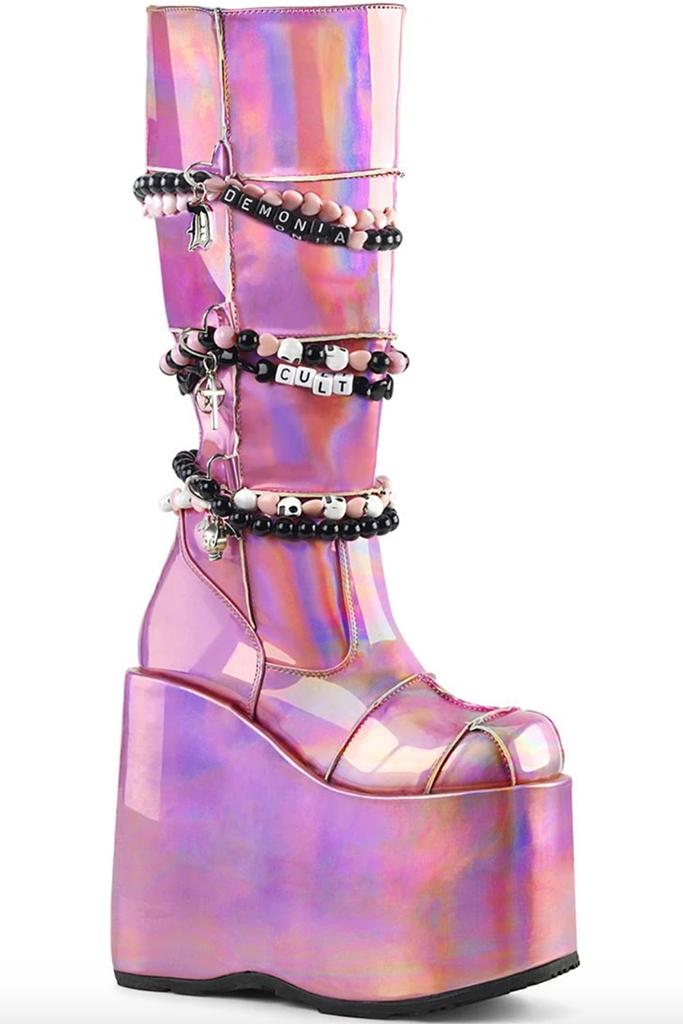 Demonia Slay Boots Lady Gaga