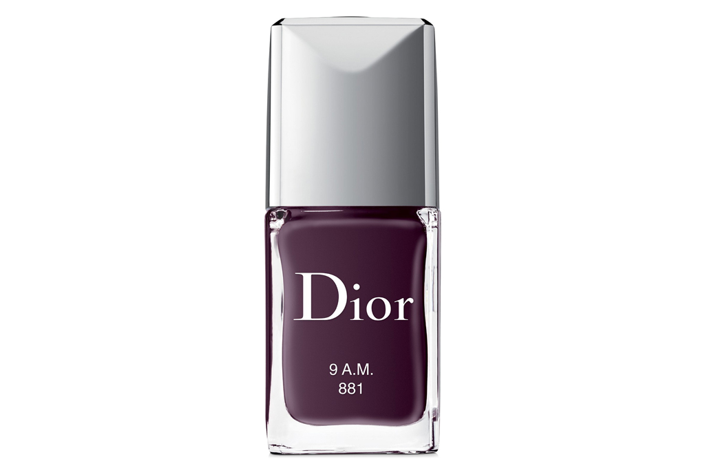 dior, nail polish, purple, plum