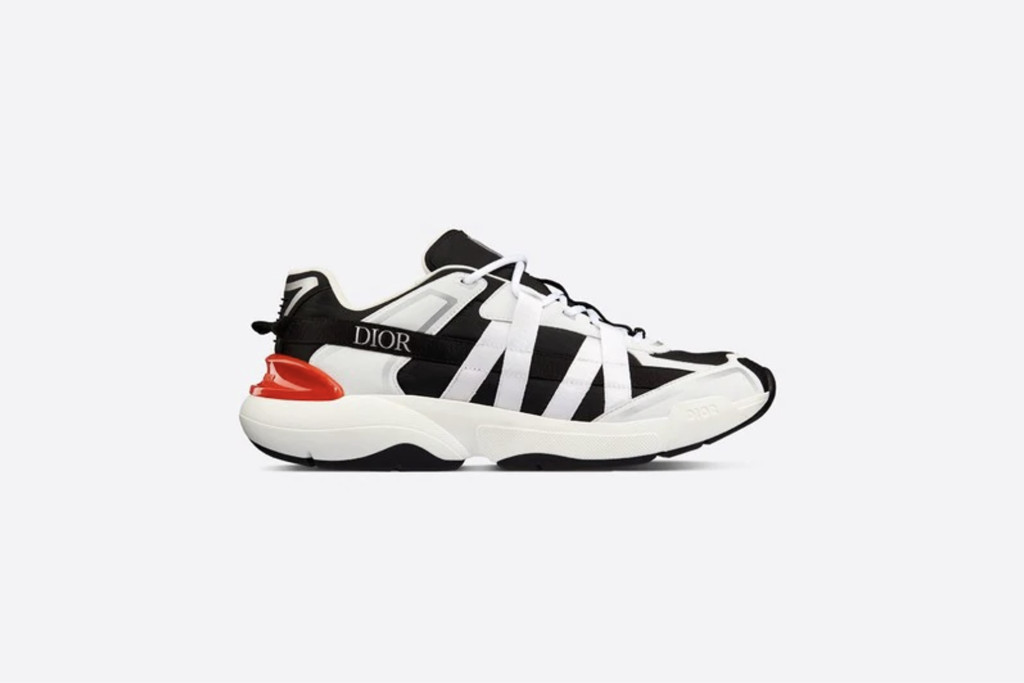best dior sneakers, B24 Runtek Sneaker in Black and White Technical Fabric, designer sneakers, dior sneakers