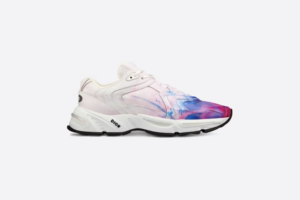 best dior sneakers, Dior CD1 Sneaker in Pink and Blue Tie-Dye Print Technical Mesh and Calfskin, designer sneakers, dior sneakers