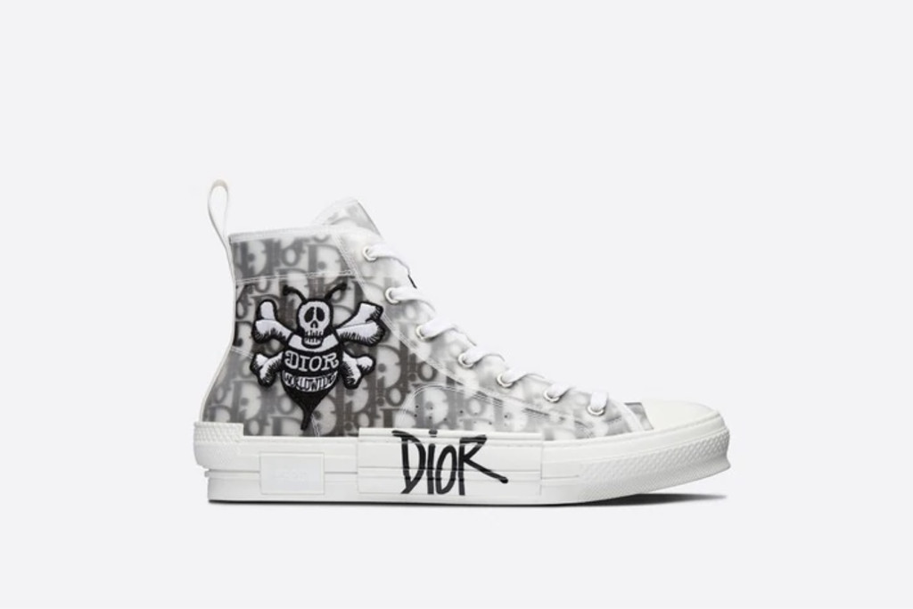 best dior sneakers, B23 High-Top Sneaker Black and White Dior Oblique Canvas with Dior and Shawn Bee Embroidery Patch, designer sneaker, dior sneaker