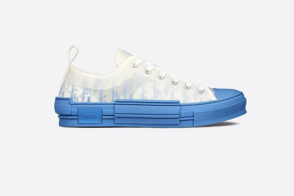 best dior sneakers, Dior B23 Sneaker, Gradient Blue Dior Oblique Canvas, designer sneakers