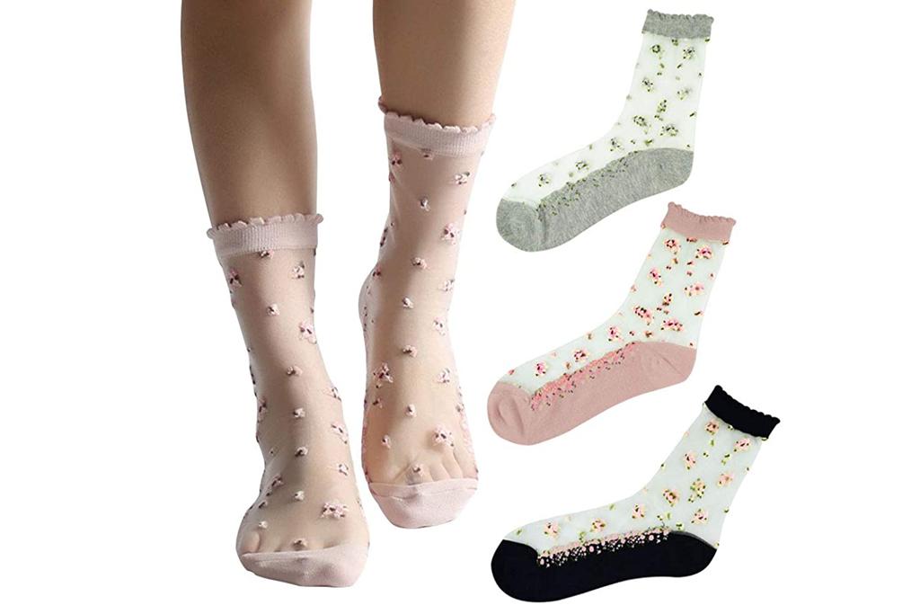 floosom, sheer socks