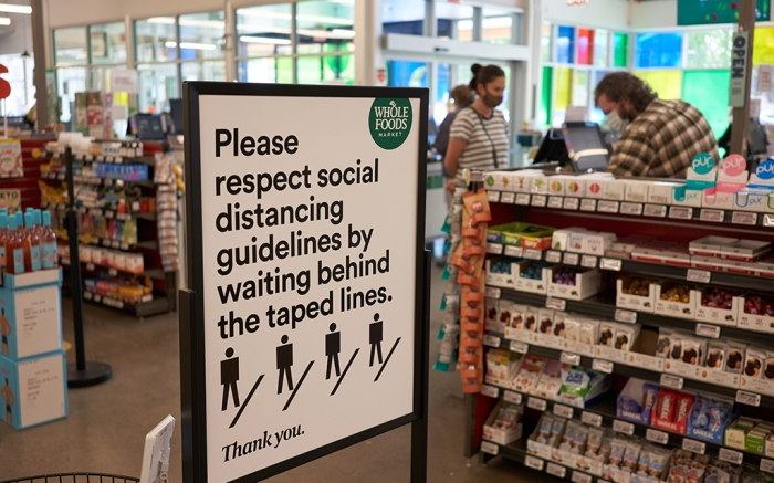 Whole Foods store oregon store coronavirus social distancing