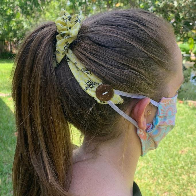 CocoSewShop Scrunchie Hair Tie Ear Saver, ear savers