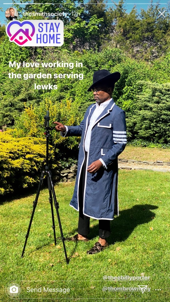 billy porter, style, thom browne, gucci, photo shoot