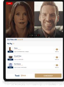 App split screen screenshot of Immerss video call platform