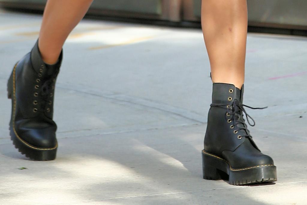 Irina Shayk, dr martens boots, street style, celebrity, nyc, fashion