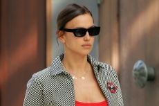 Irina Shayk's Burberry Slip Dress and Transparent Heels Make for the Perfect Holiday Look