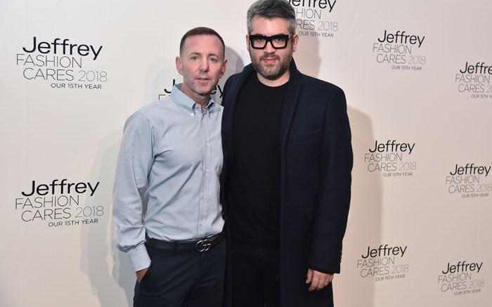 Jeffrey Kalinsky and Brandon MaxwellJeffrey Fashion Cares Fashion Show and Fundraiser, Arrivals, New York, USA - 11 Apr 2018