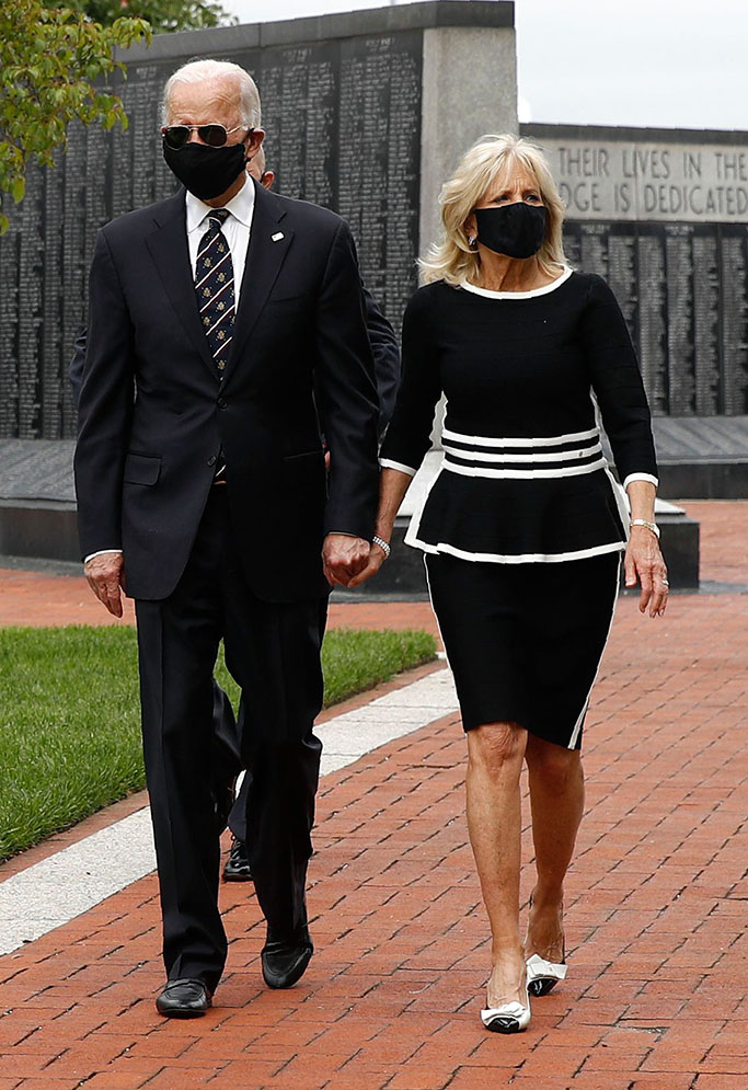 Democratic presidential candidate, former Vice President Joe Biden and Jill Biden depart after placing a wreath at the Delaware Memorial Bridge Veterans Memorial Park, in New Castle, DelElection 2020 Biden Appearance, New Castle, United States - 25 May 2020