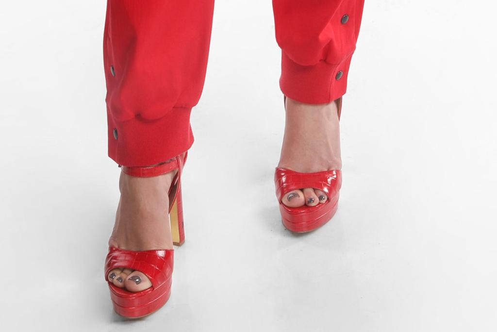 dsw red block heels