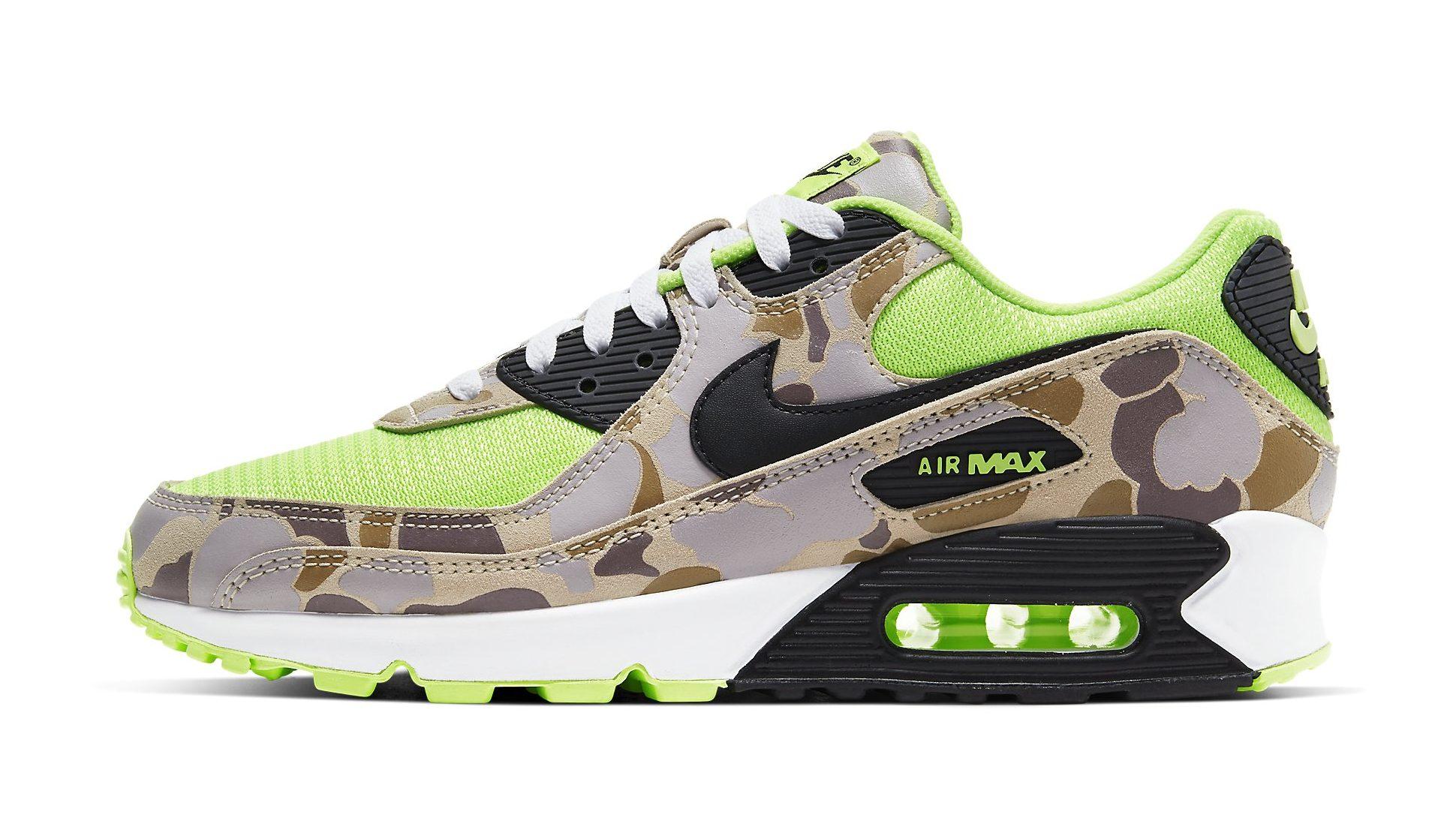 Nike Air Max 90 'Green Camo' Release