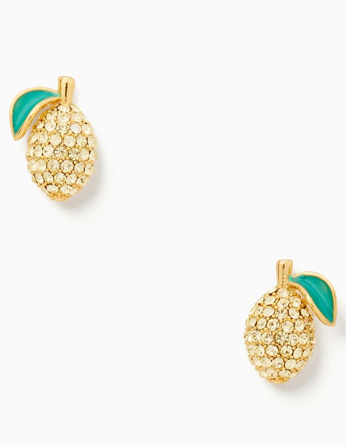 kate spade, earrings, lemon