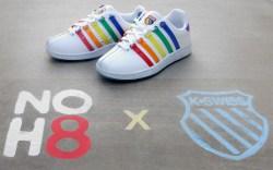 k-swiss, pride, sneakers, noh8 campaign, rainbow