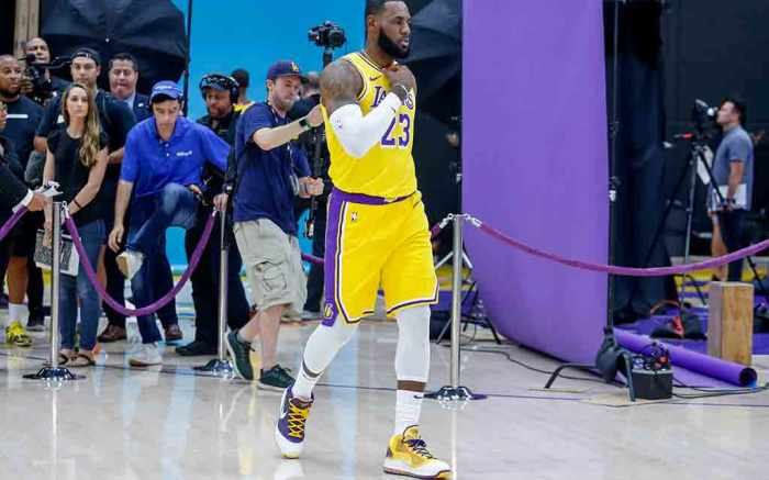 LeBron James Los Angeles Lakers media day 2019