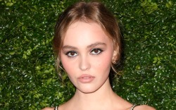lily-rose depp, style, dress, hair