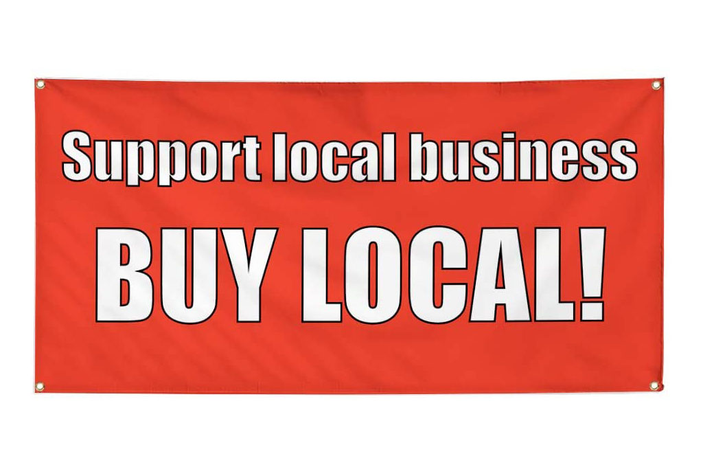 buy local sign