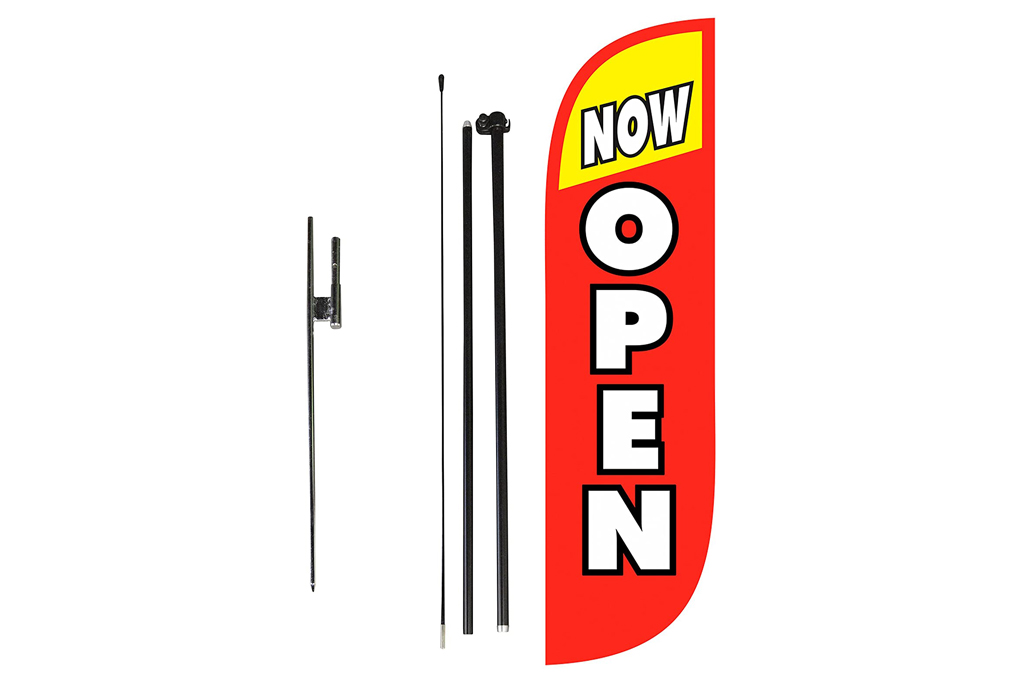 look our way, open sign