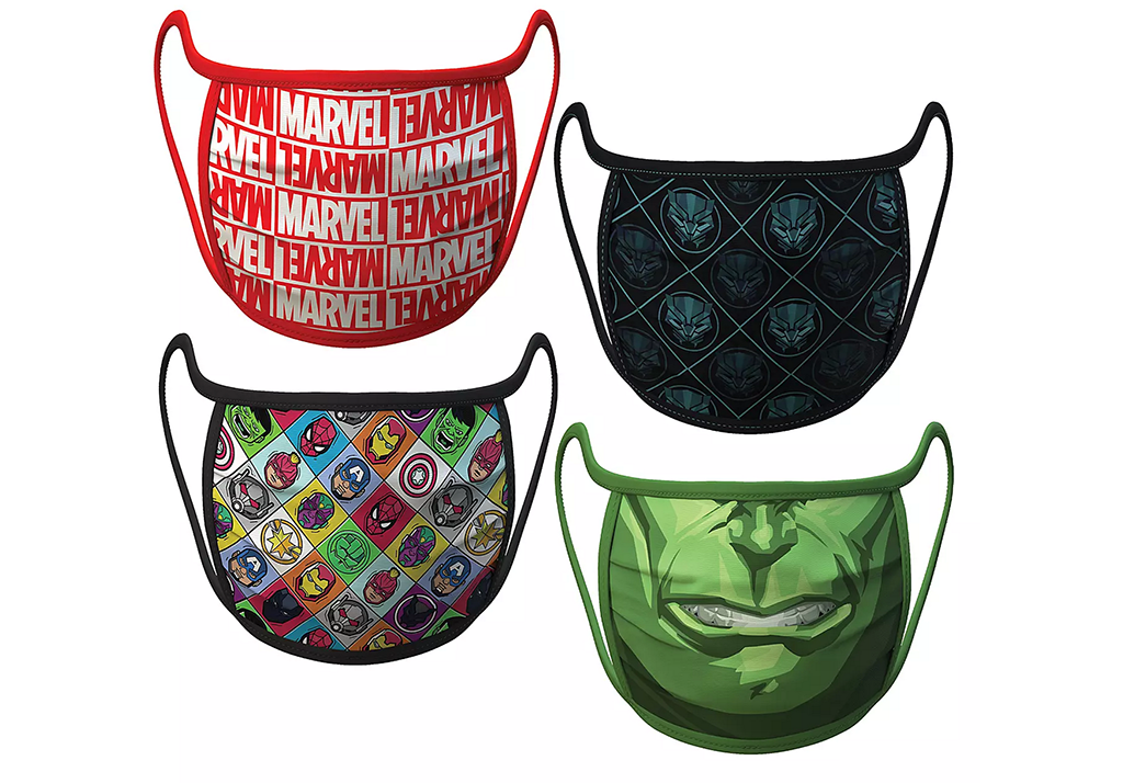 Disney face masks, marvel
