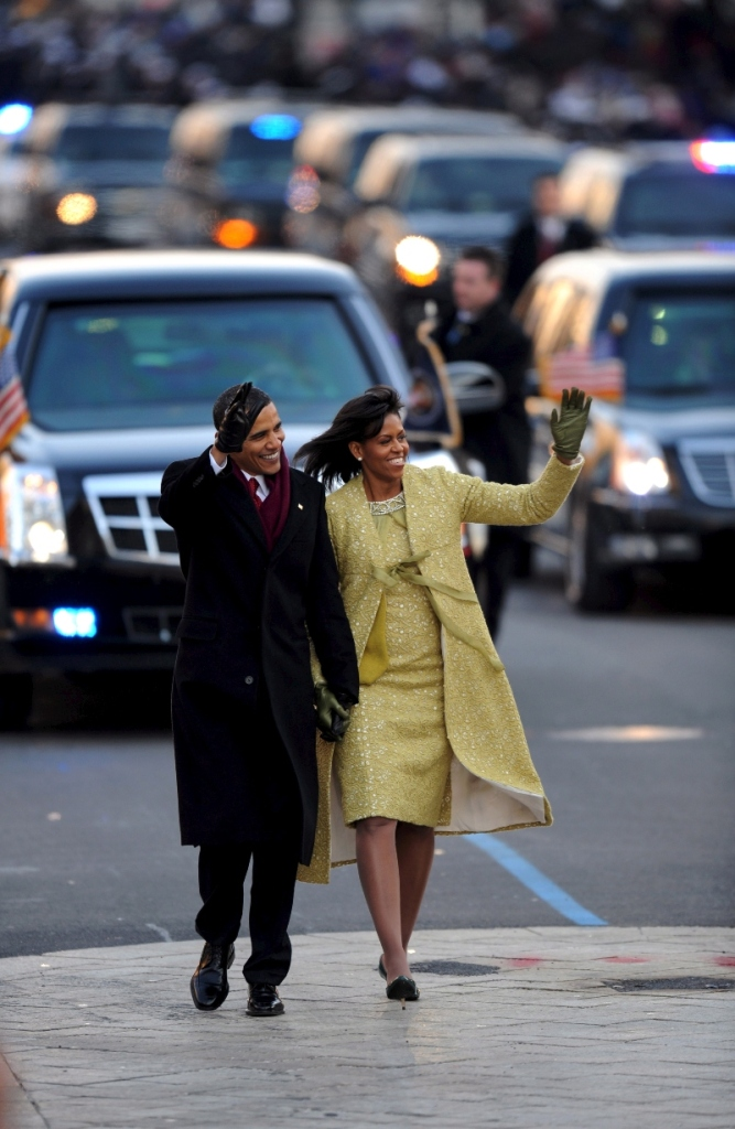 michelle obama, barack obama, inauguration, style, 2009