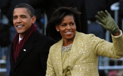 Michelle Obama, inauguration day, 2009, president