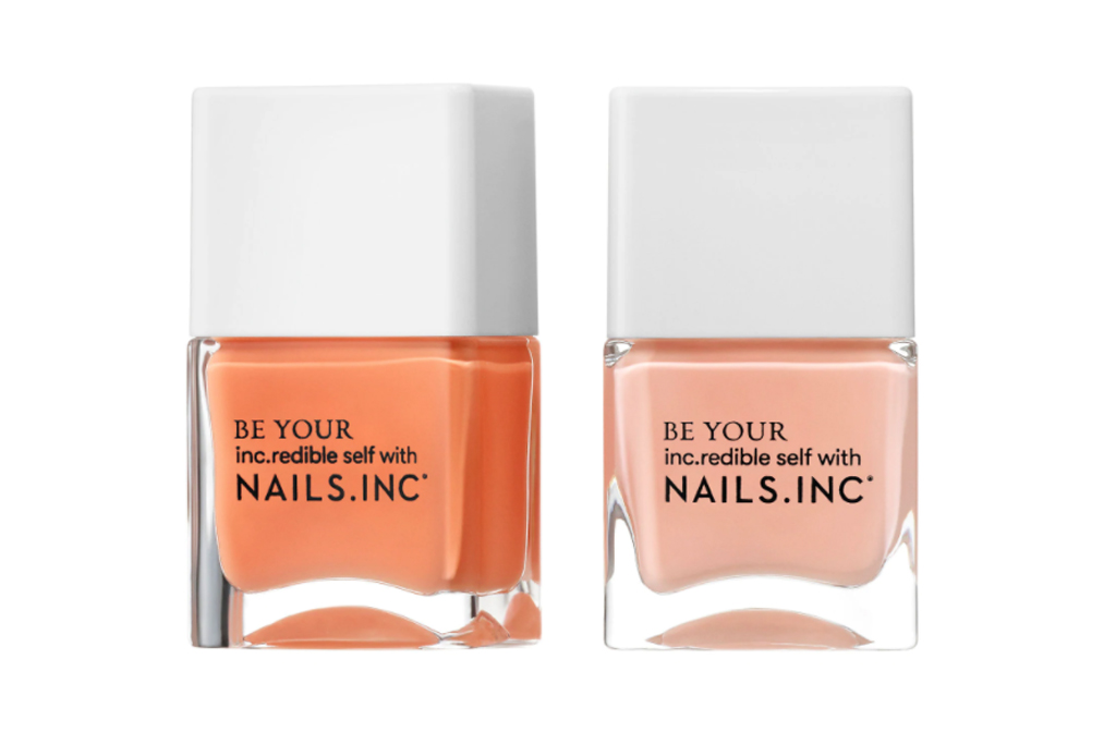 nails inc, peach, nail polish