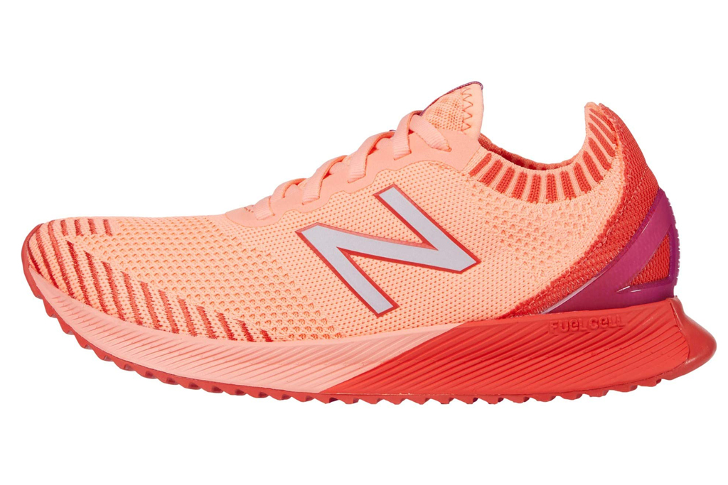 new balance sneakers, orange