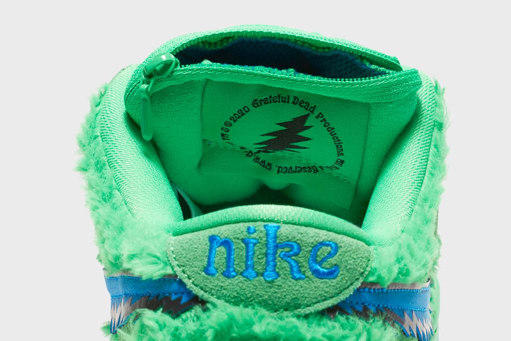 nike, grateful dead, sneakers, sb dunk, bears, fuzzy