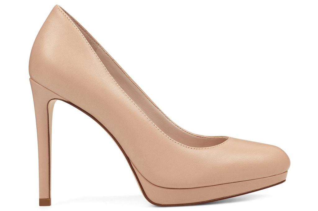 Nine West, nude platform heels