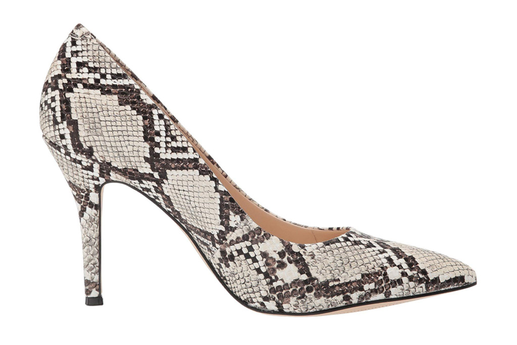 nine west, pumps, snakeskin
