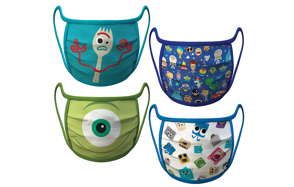 Disney face masks, pixar
