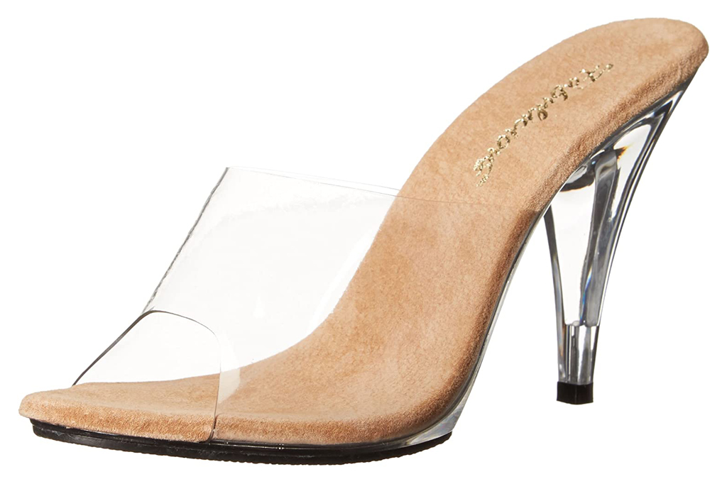 Pleaser, clear mules