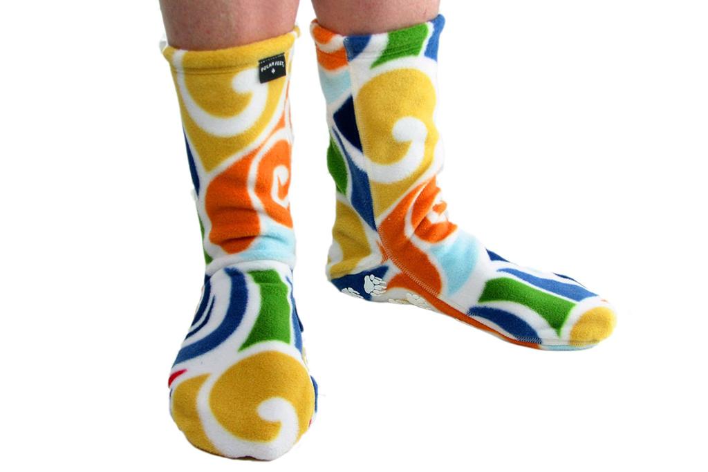 polar feet, fleece socks