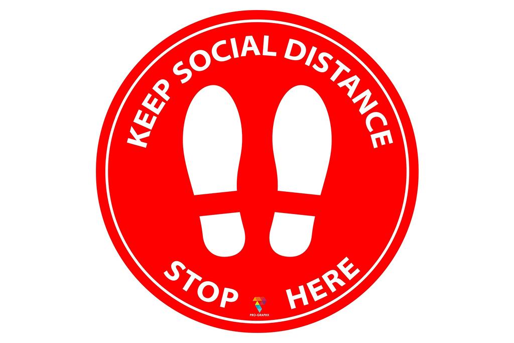 pro graphx, floor sticker, social distance