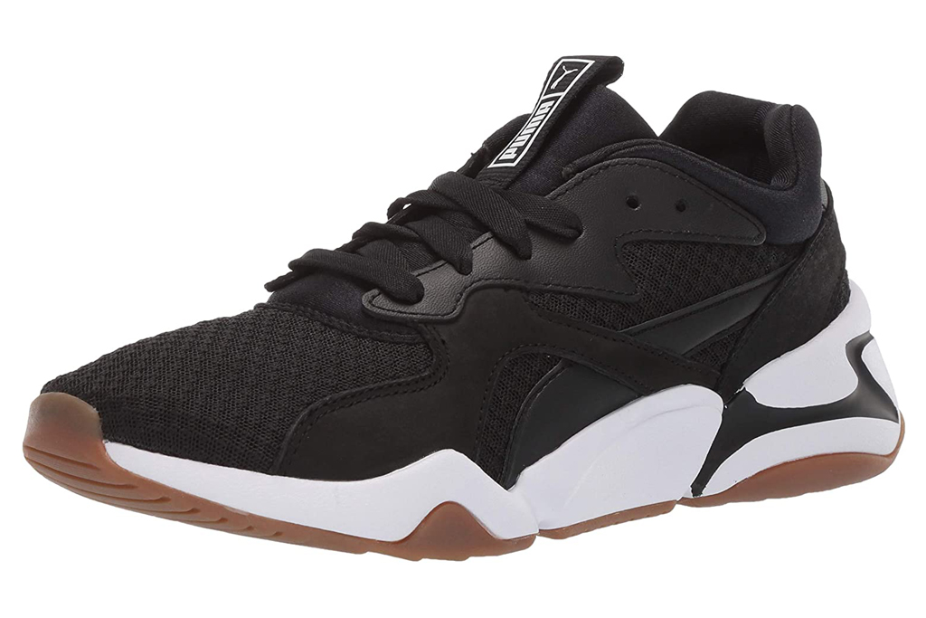 puma, nova, chunky sneakers, black