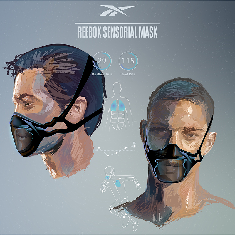 reebok, face mask, design, mask