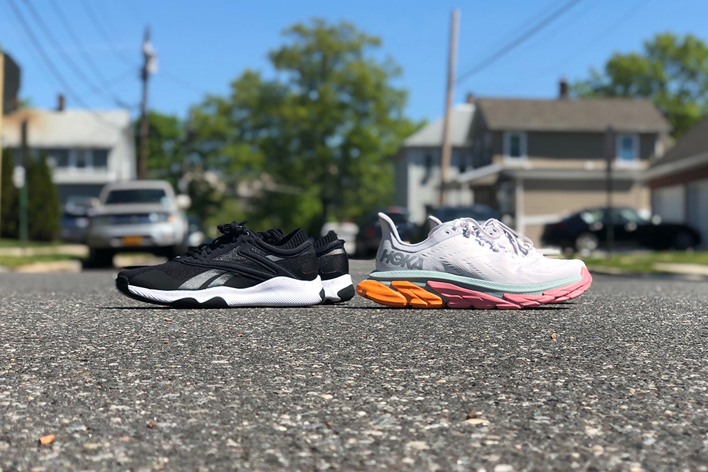 The Reebok HIIT and Hoka One One Clifton Edge, sneakers for summer, reebok, hoka one one