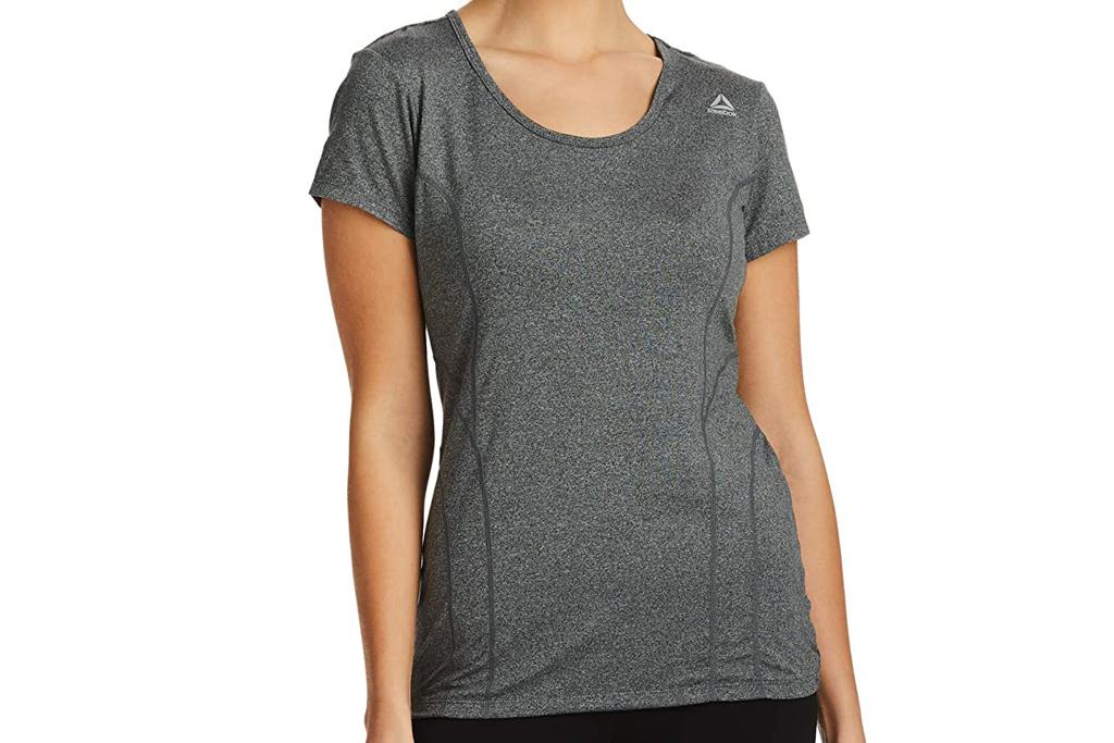 reebok, workout shirt, womens