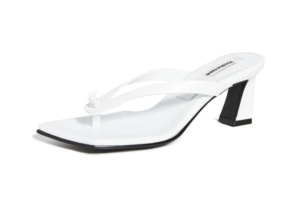 reike nen, reike nen shoes, thong heel sandal