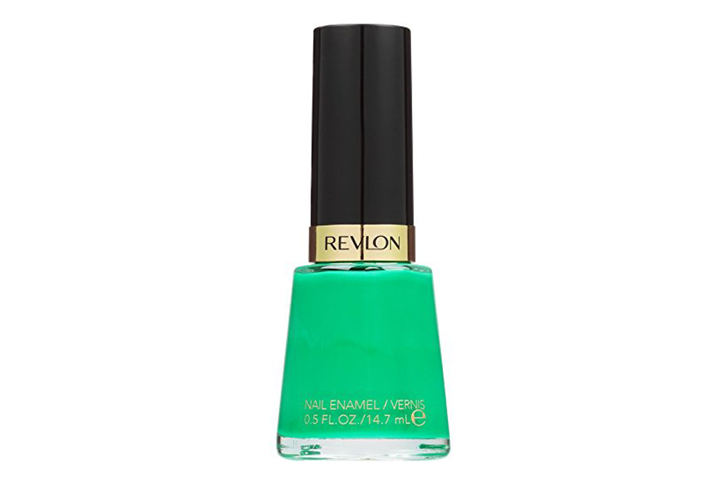 revlon, nail polish, green