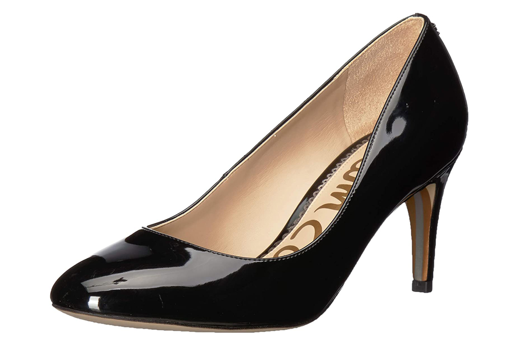 sam edelman, pumps, black, round toe