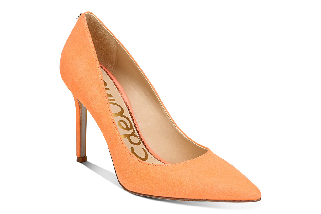 sam edelman, pumps, orange
